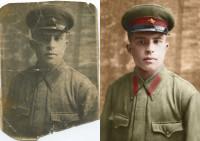 Реставрация, оцветнение военной фотографии