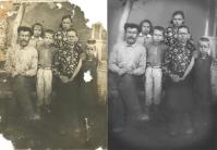 Реставрация порванной фотографии