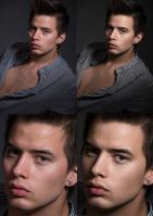 Естественная ретушь мужского портрета