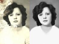 Реставрация фотографии, удаление царапин, цветокоррекция