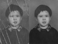 Реставрация потрескавшейся фотографии