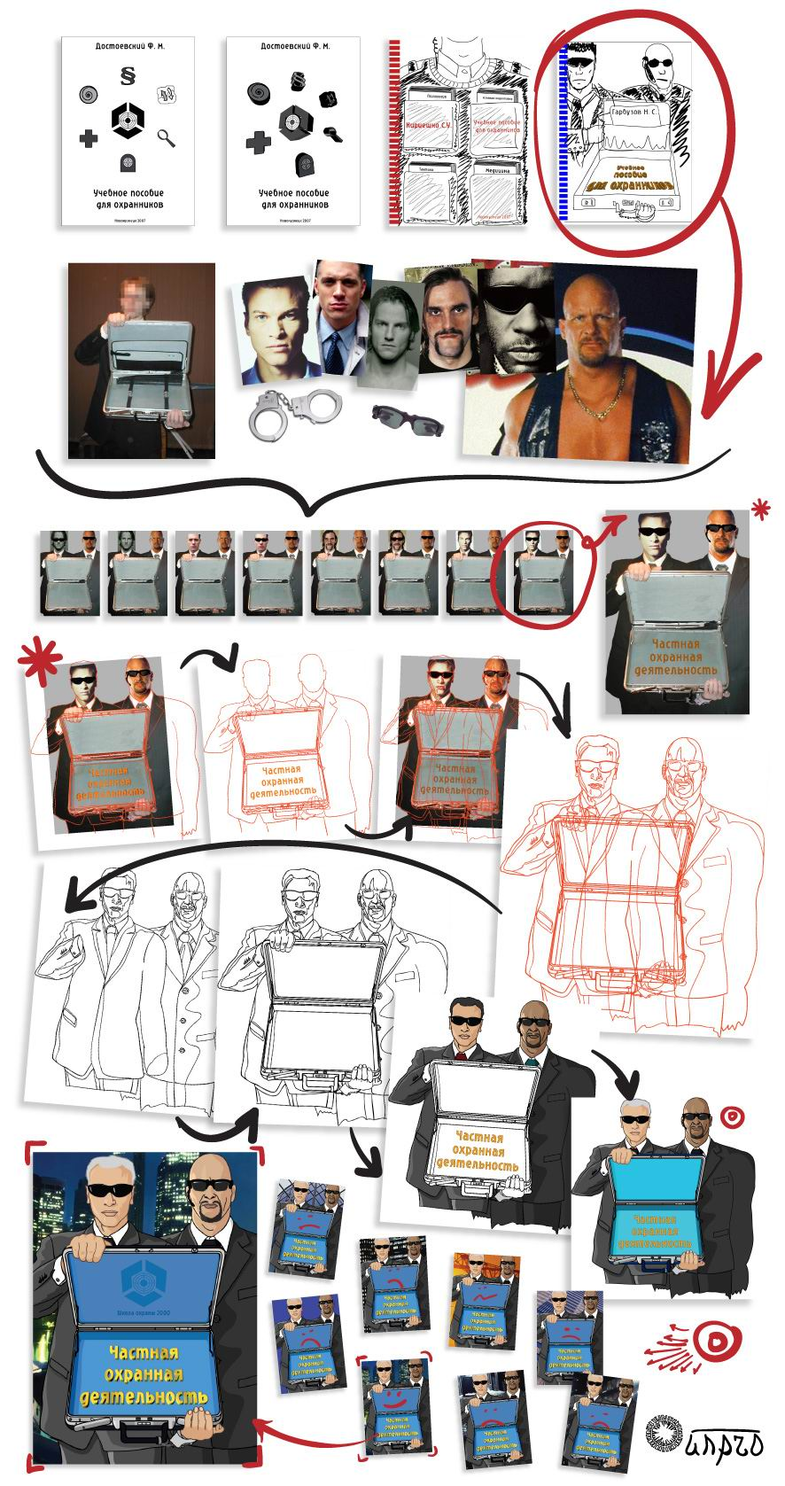 Создание обложки книги про охрану