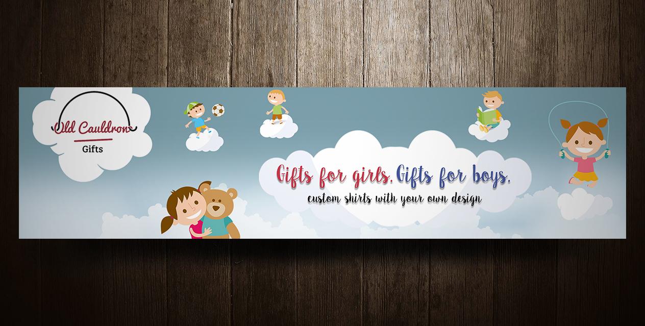 """Банер для сайта магазина детской одежды """"OldCauldronGifts"""""""