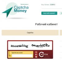 """Вёрстка личного кабинета пользователя сервиса """"CaptchaMoney"""""""