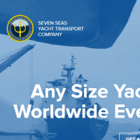 "Вёрстка Landing Page компании ""Seven seas yacht transport company"""