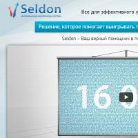 """Вёрстка Landing Page информационно-аналитической системы """"Seldon"""""""