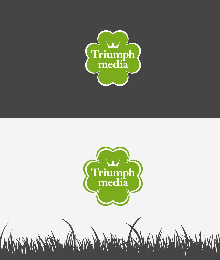 Разработка логотипа  TRIUMPH MEDIA с изображением клевера фото f_506eec3c687ce.png