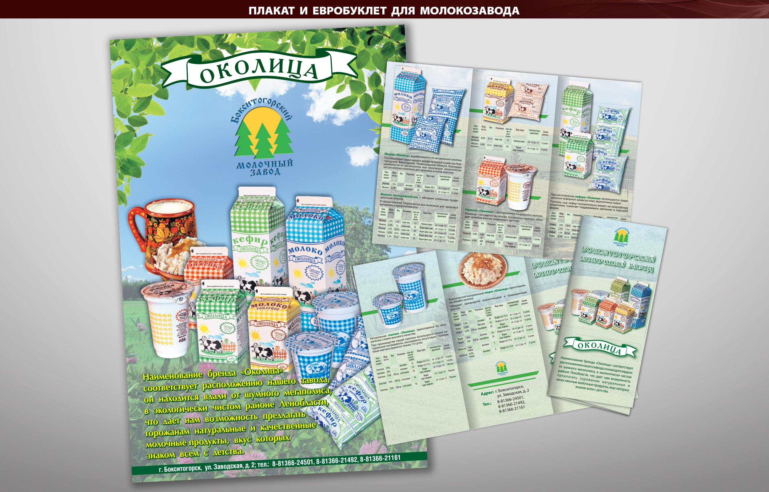 Плакат и евробуклет для молокозавода