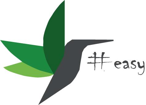 Разработка логотипа в виде хэштега #easy с зеленой колибри  фото f_3615d503f72d0d14.jpg