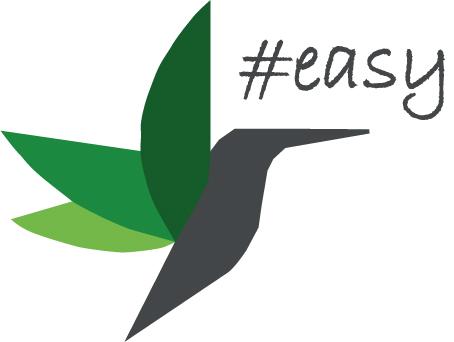 Разработка логотипа в виде хэштега #easy с зеленой колибри  фото f_8525d503f6f34f9f.jpg