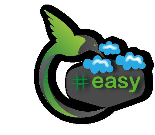 Разработка логотипа в виде хэштега #easy с зеленой колибри  фото f_1435d5172112ec44.png