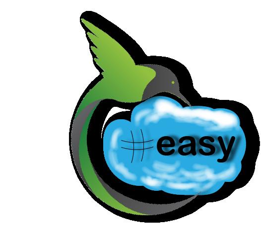 Разработка логотипа в виде хэштега #easy с зеленой колибри  фото f_4915d51756460a5c.png