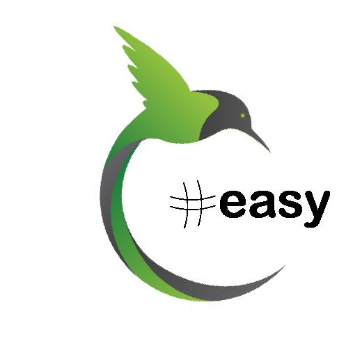 Разработка логотипа в виде хэштега #easy с зеленой колибри  фото f_5085d517218ad922.png