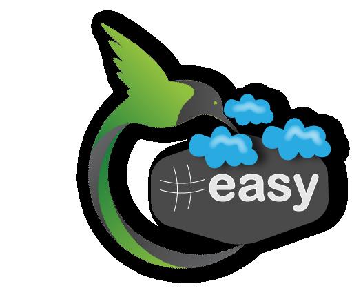 Разработка логотипа в виде хэштега #easy с зеленой колибри  фото f_6675d51720e09f30.png