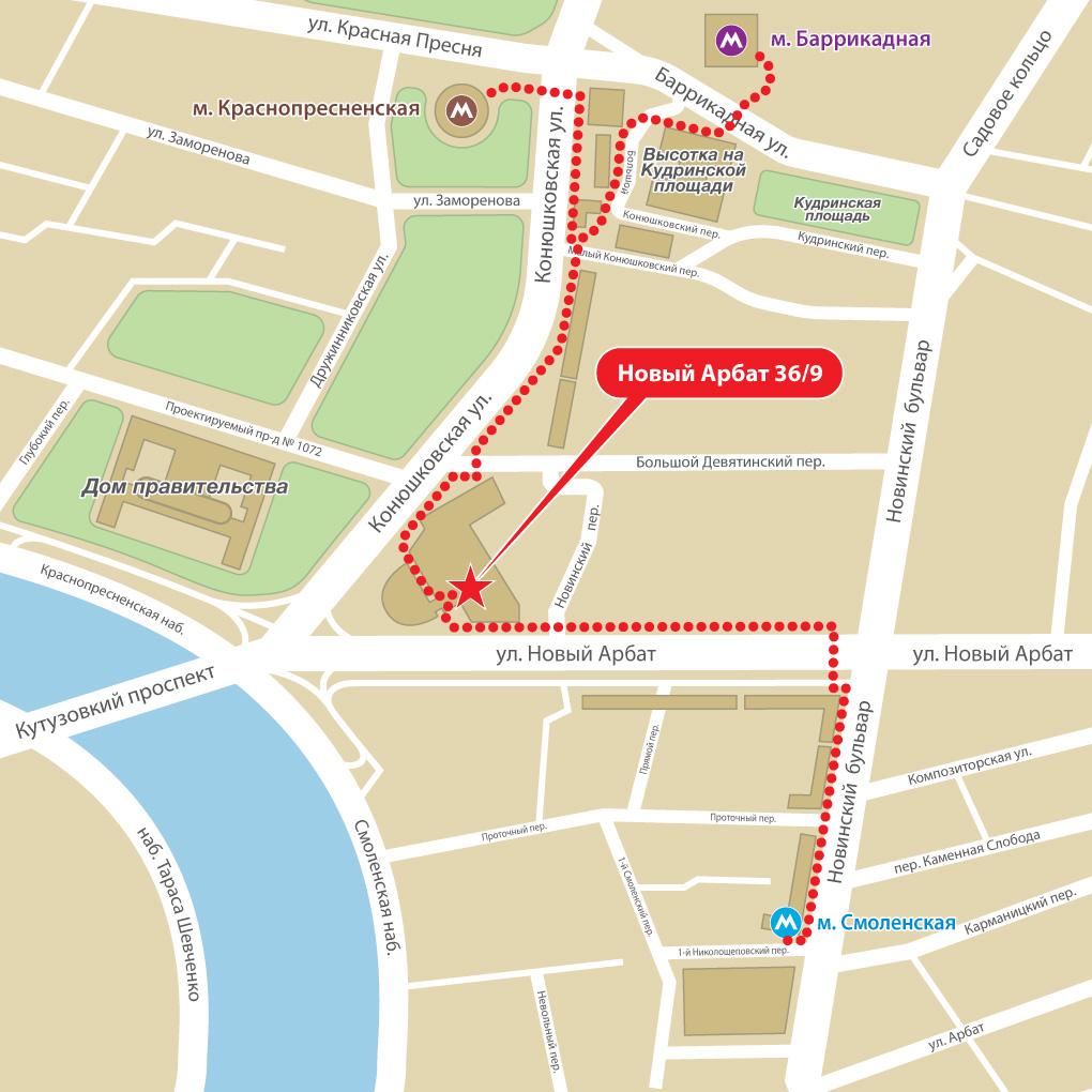 Карта-схема проезда