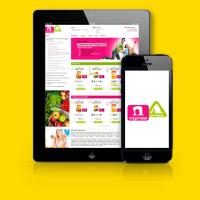 Адаптивный дизайн для Интернет-магазна продуктов
