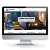 Корпоративный сайт - Геометрия: строительство и дизайн