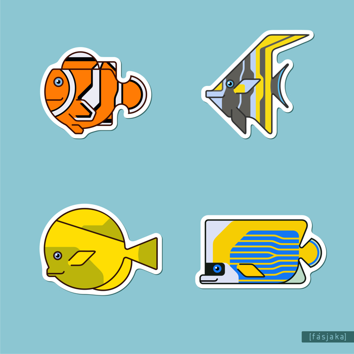 tropical fish geometric