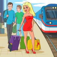 девушка на вокзале