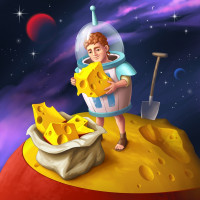 сырный астероид