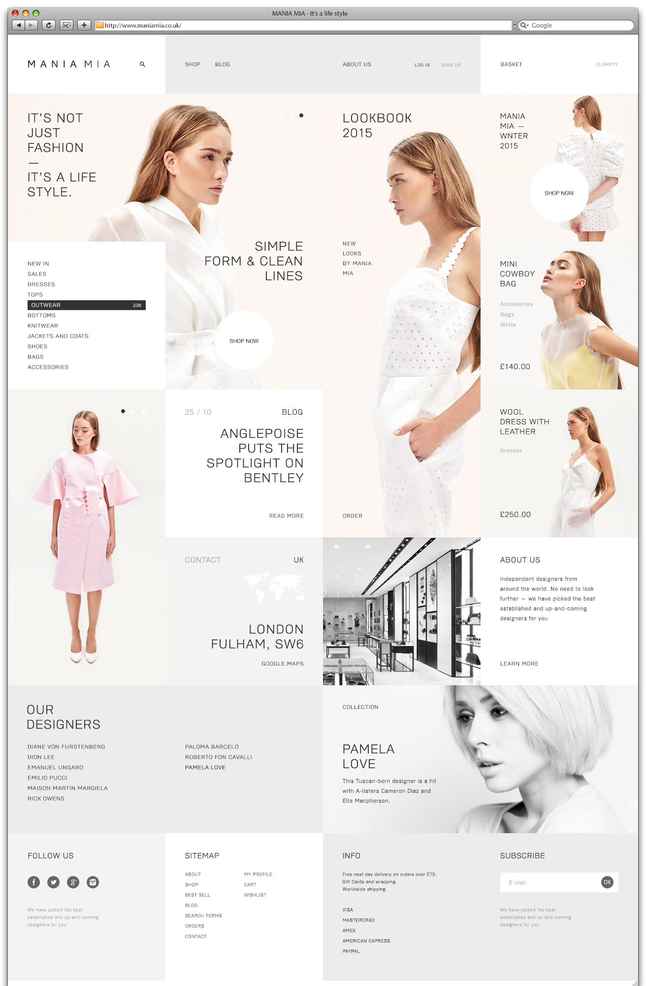 "Интернет-магазин: ""MANIA MIA - It's a life style"" Лондон, Великобритания"
