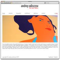 Сайт-визитка для художника Андрея Одинцова (CMS Битрикс)