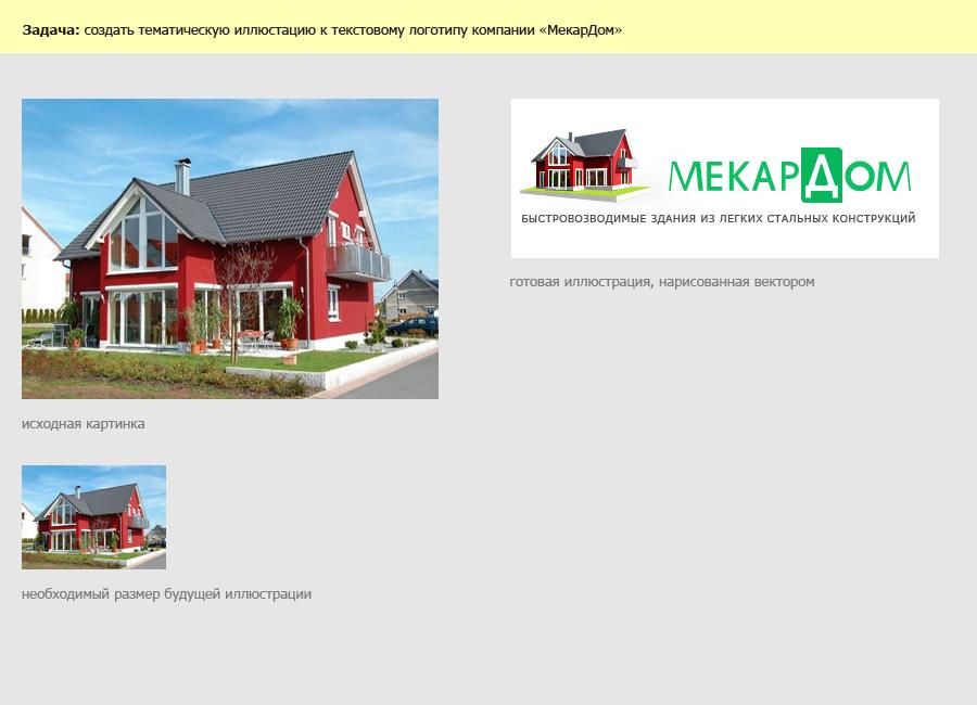 "Иллюстрации к логотипу ""МекарДом"""