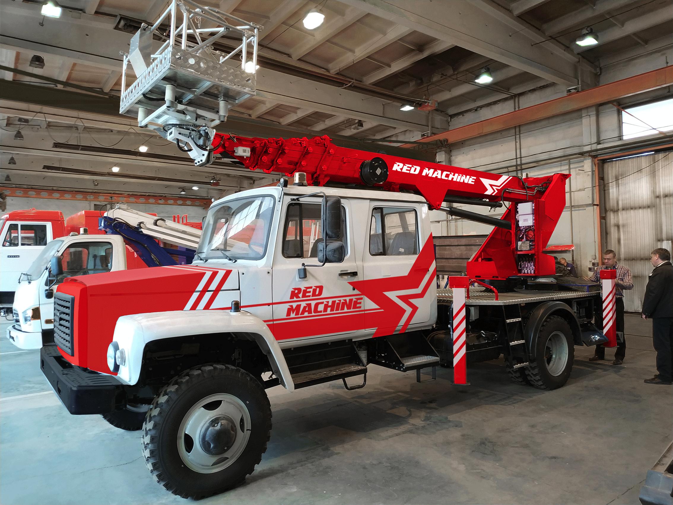 Оформление автогидроподъёмника,  бренд - RED MACHINE фото f_2825e1750a4249c0.png