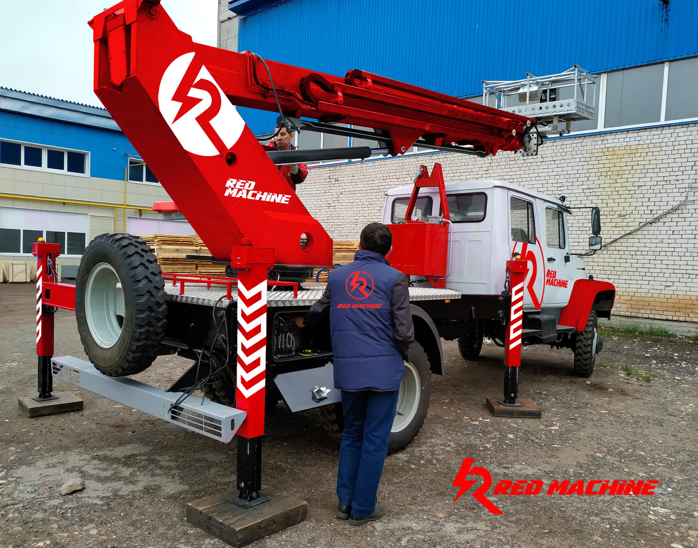 Оформление автогидроподъёмника,  бренд - RED MACHINE фото f_5215e14dc32eef75.png