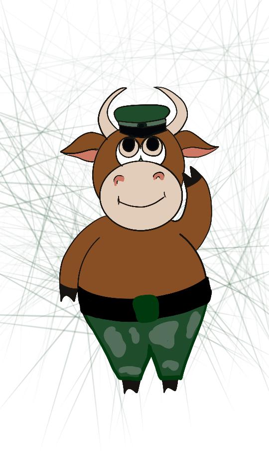 Создать рисунки быков, символа 2021 года, для реализации в м фото f_0535eff80574015c.png