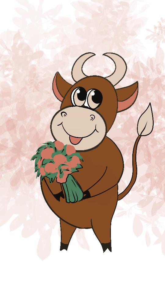 Создать рисунки быков, символа 2021 года, для реализации в м фото f_1885eff805ebada0.png