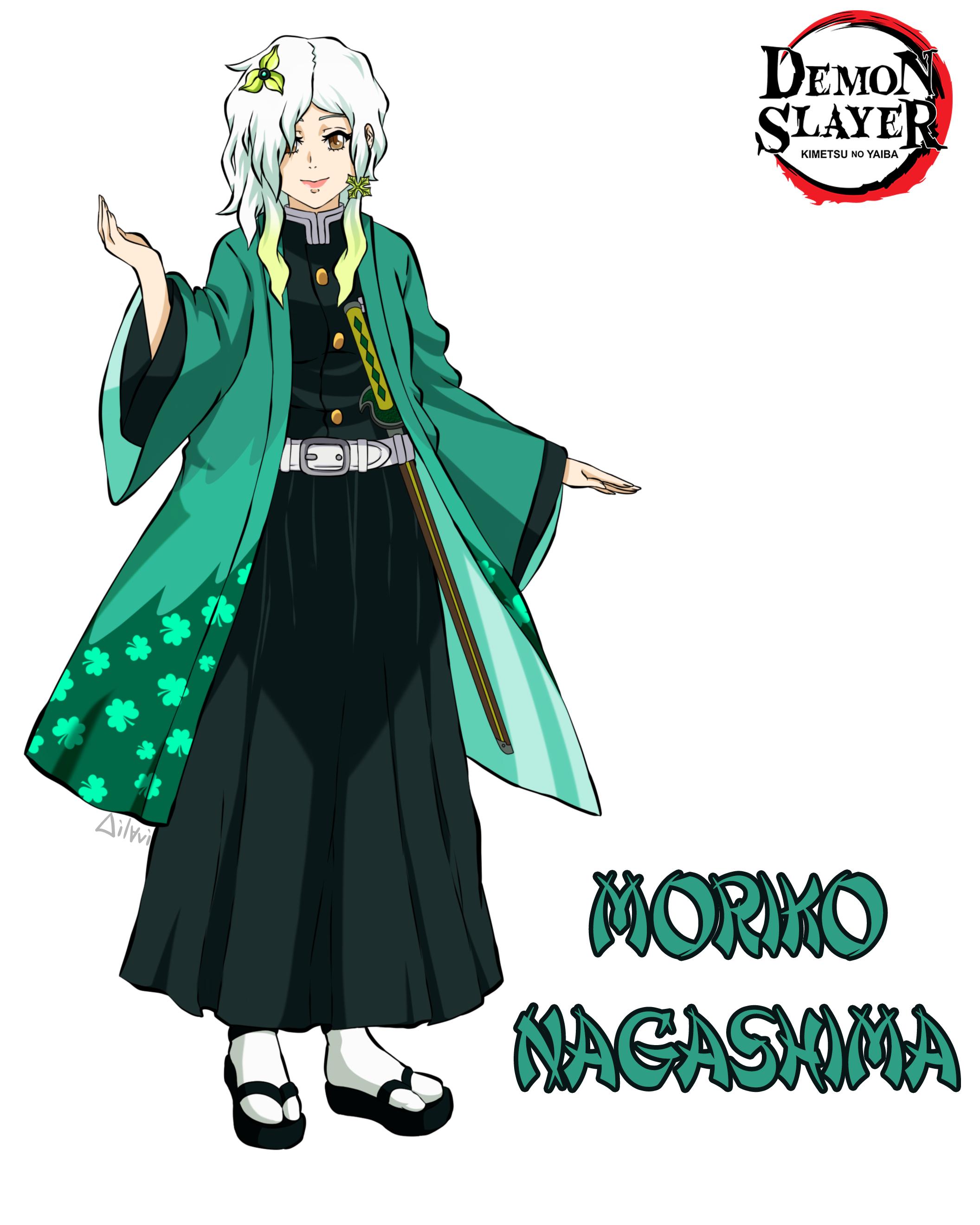 """Концепт авторского персонажа по аниме """"Клинок, рассекающий демонов/Kimetsu No Yaiba/Demon Slayer""""."""