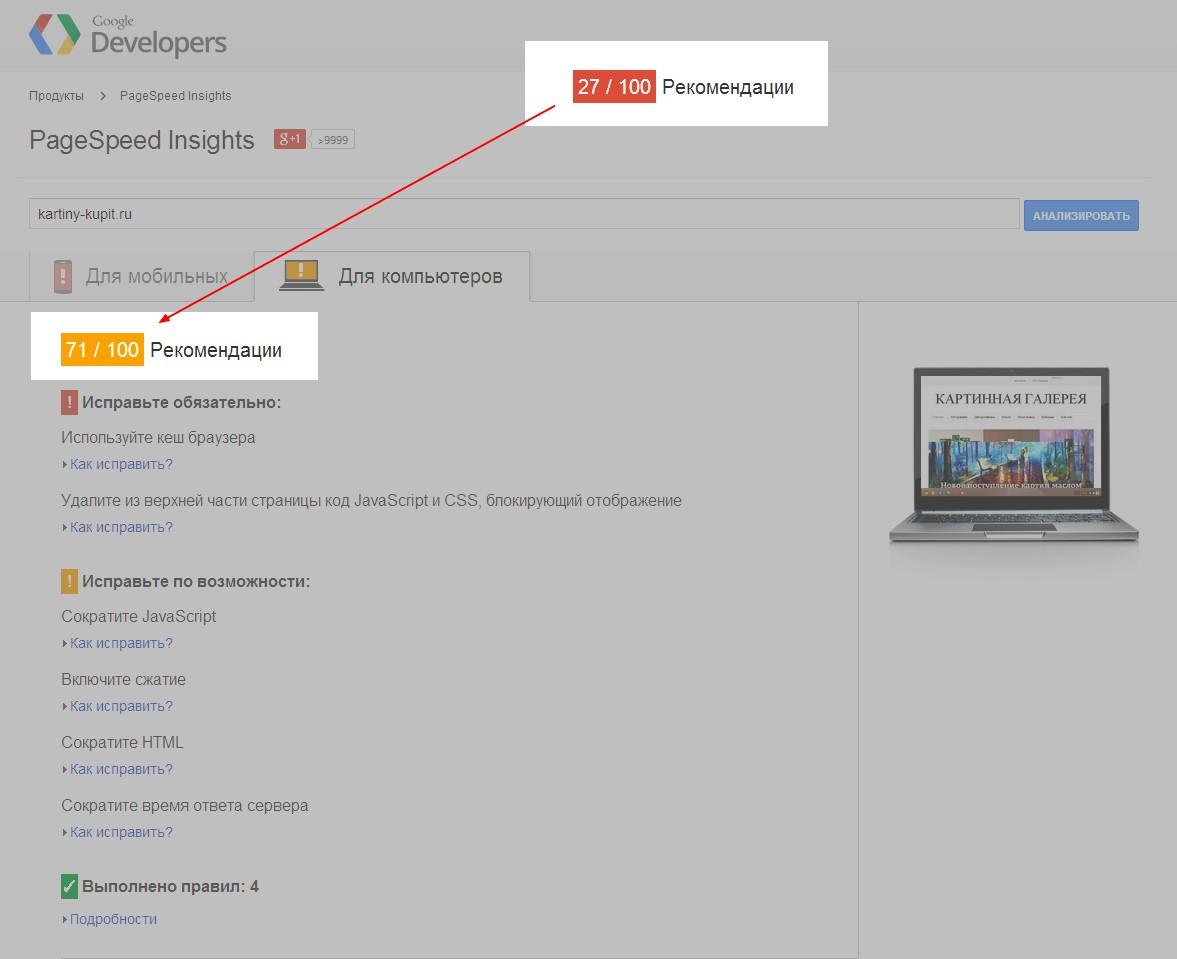 Техническая оптимизация сайтов Wordpress (прогресс 262% в гугле)