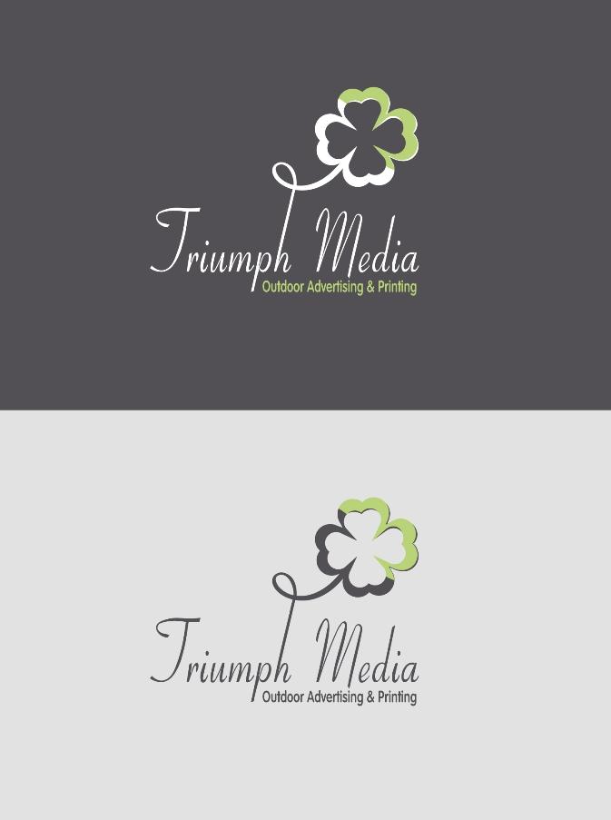 Разработка логотипа  TRIUMPH MEDIA с изображением клевера фото f_5072c8aae4e2a.jpg