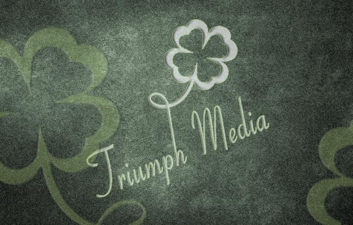 Разработка логотипа  TRIUMPH MEDIA с изображением клевера фото f_5072c8b2764eb.jpg
