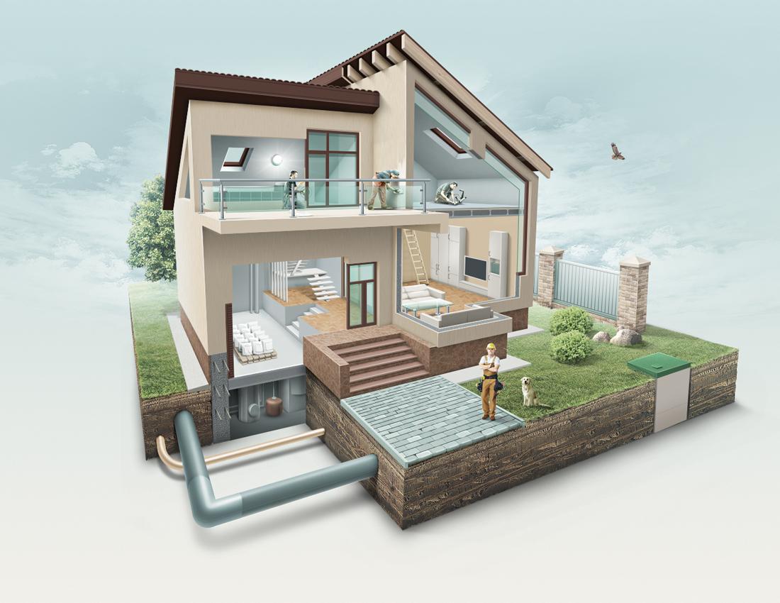 Дом в разрезе 2