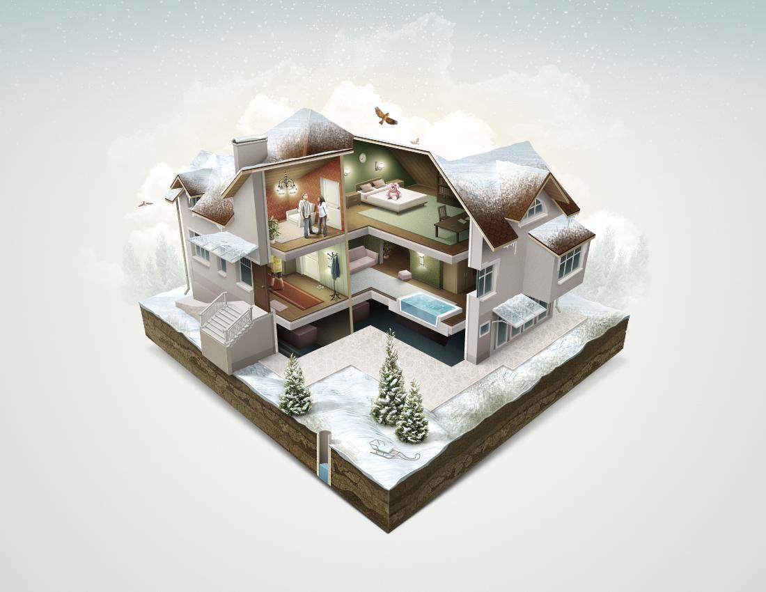 Дом в разрезе для сайта