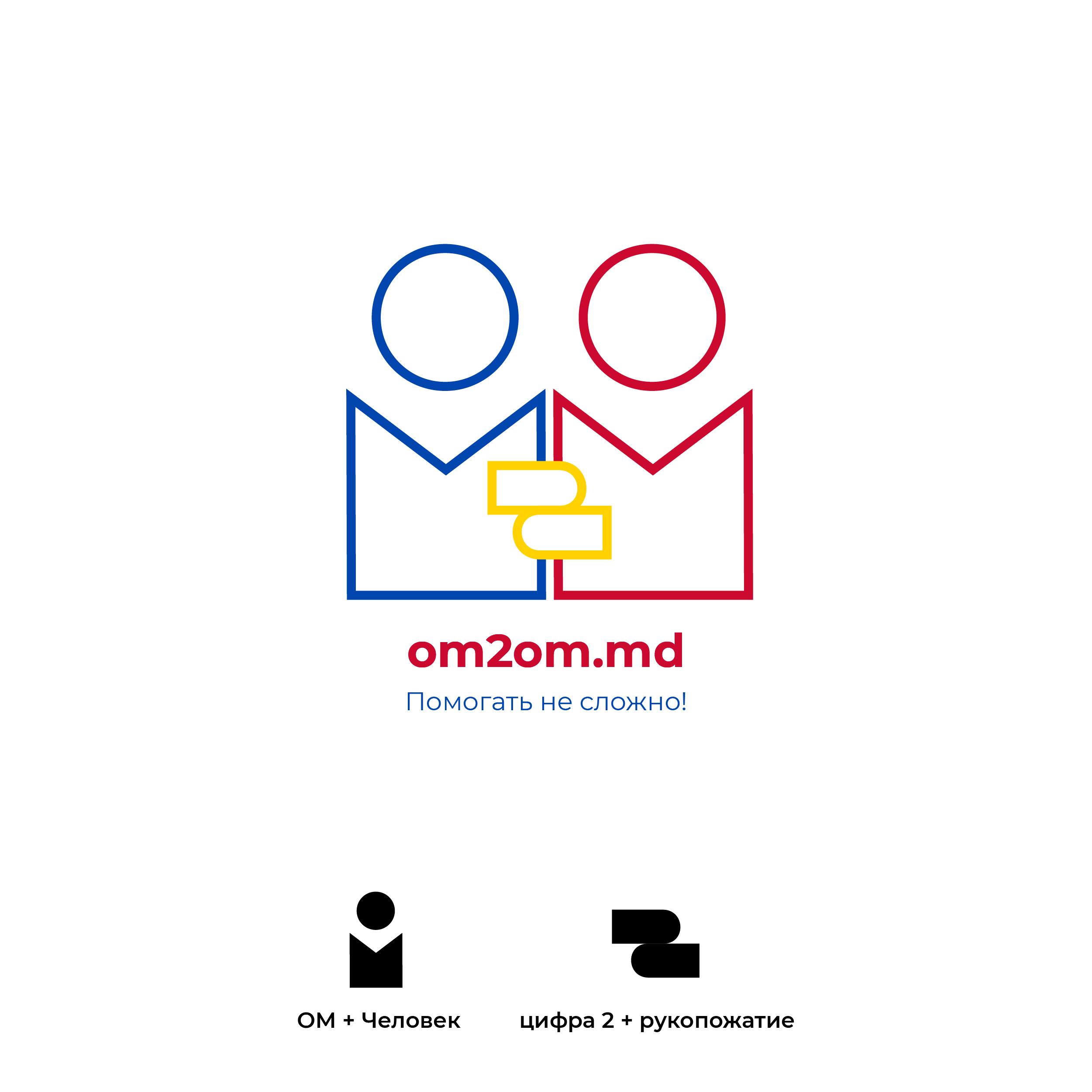 Разработка логотипа для краудфандинговой платформы om2om.md фото f_1735f5cef0b673c3.jpg