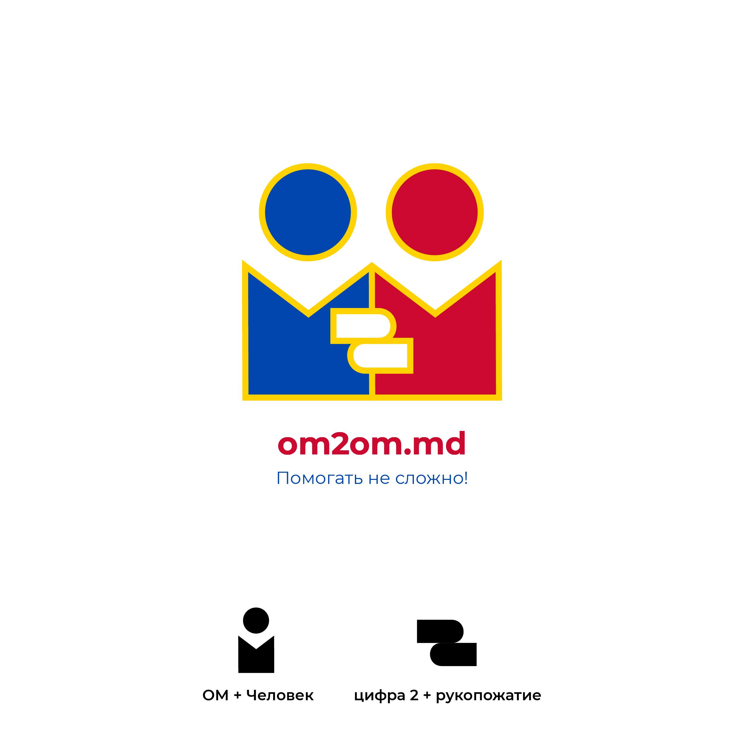 Разработка логотипа для краудфандинговой платформы om2om.md фото f_4495f5cef07654c8.jpg