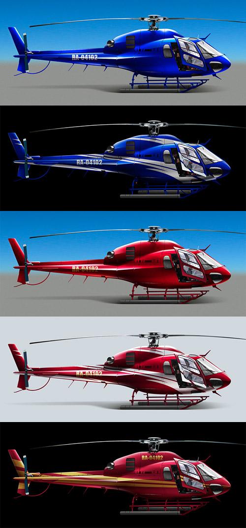 Варианты покраски вертолета