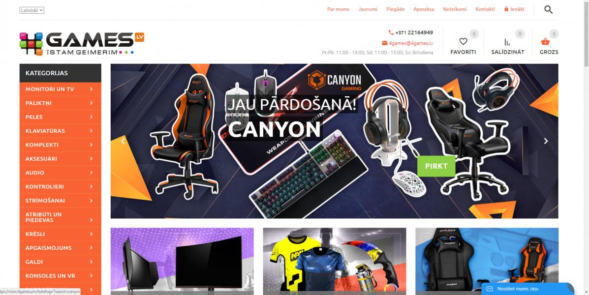 Г.Авдордс для киберспортивного магазина в Литве, Латвии и Польше