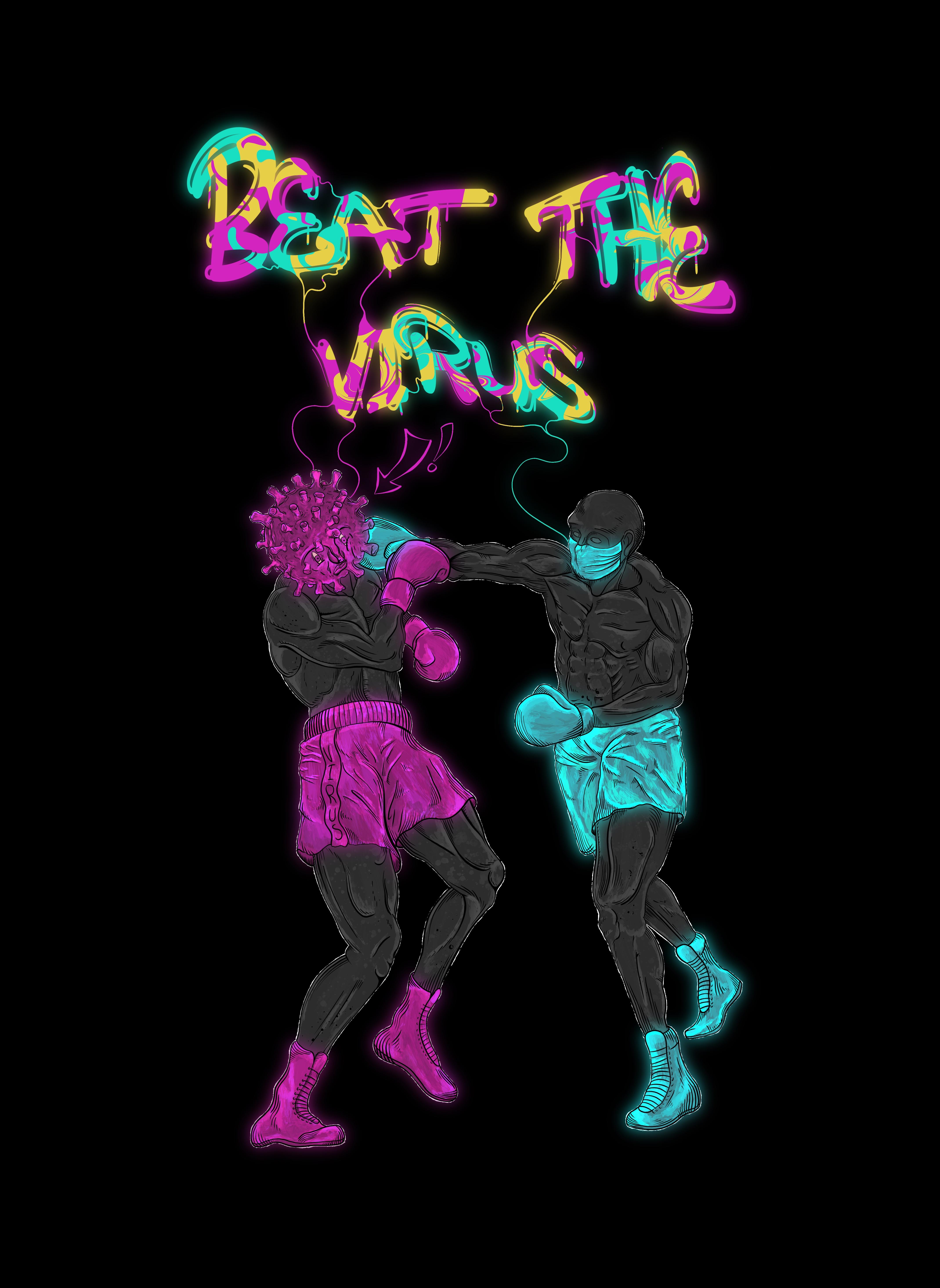 (принт) Бей вирус!