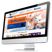 Сайт под ключ. Артемон - Профессиональный груминг салон для кошек и собак