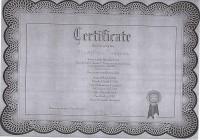 Сертификат за участие в семинаре по предпринимательству
