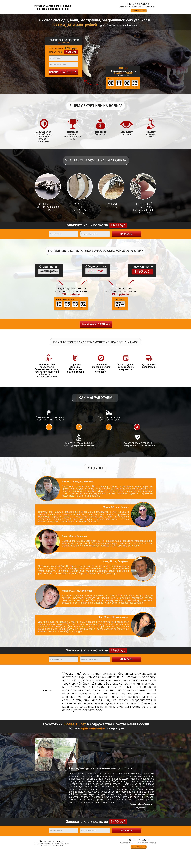 Разработка дизайна landing page для интернет-магазина