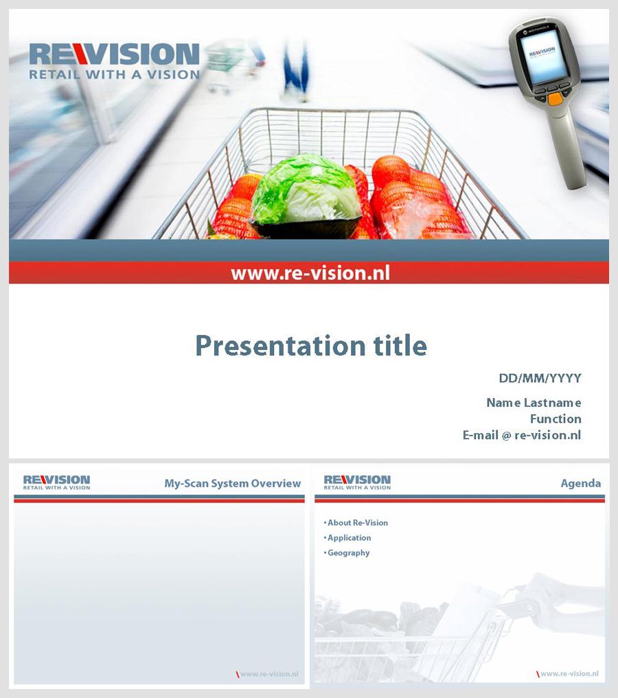 Шаблон презентации для фирмы REVISION