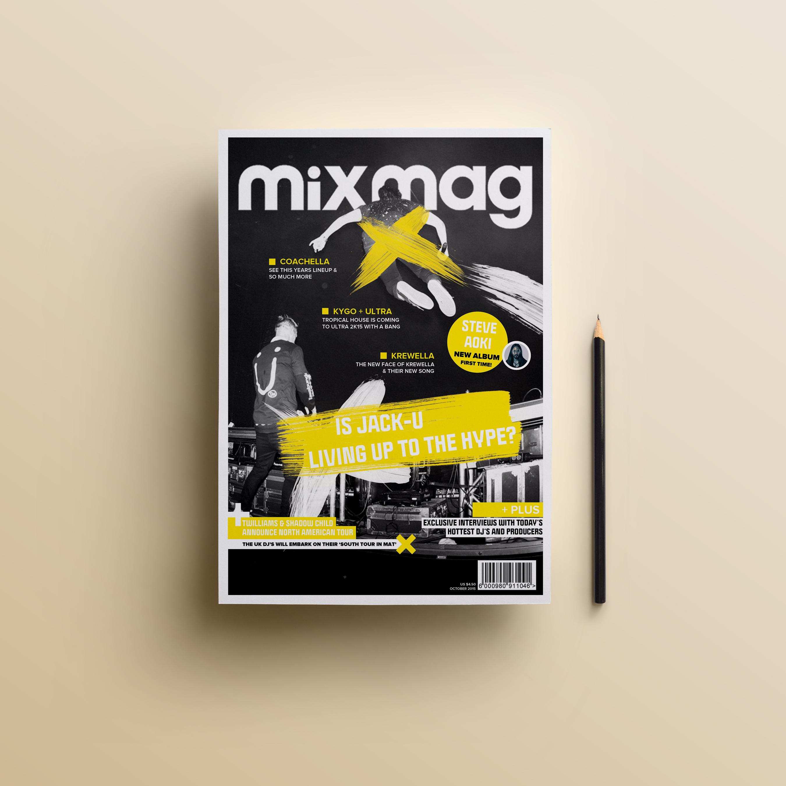 Обложка журанала MixMag