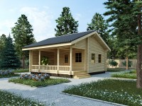 3D визуализация и разработка проекта небольшого дома из оцилиндрованного бревна