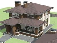 3D визуализация и разработка полного проекта дома для строительной компании