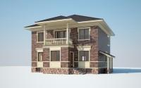 3D визуализация частного дома 300 м2